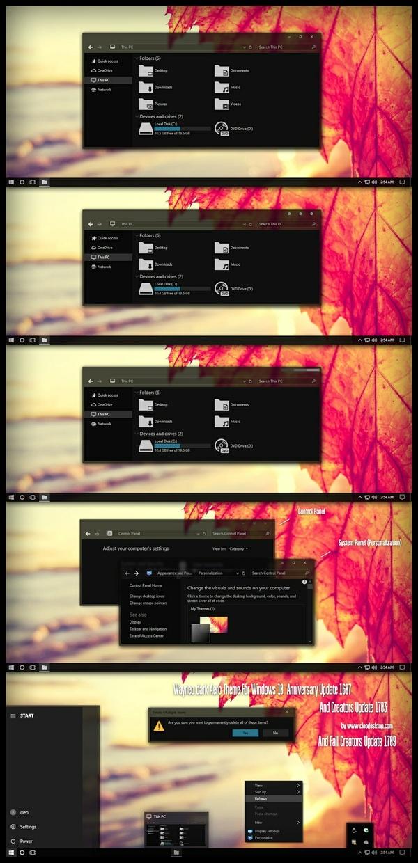 Wayneo Dark Aero Theme Windows10