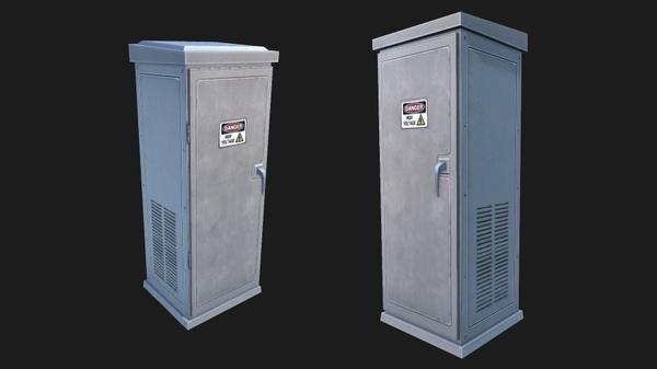 Electronic Box 3 | 3D Low Poly Model