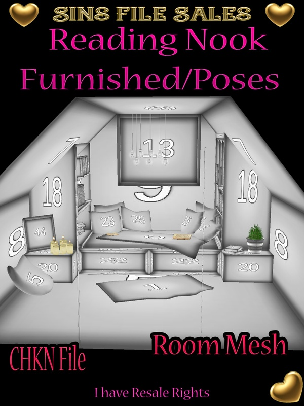 Reading Nook Mesh Furnished w/Poses