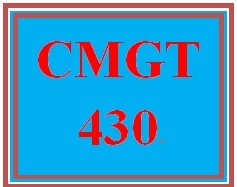 CMGT 430 Week 3 Individual Using Roles