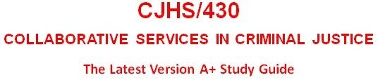 CJHS 430 Entire Course