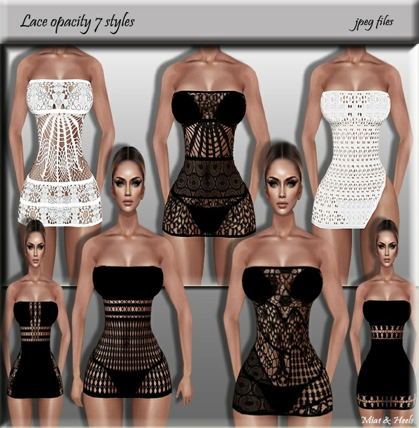 Lace opacity 7 styles