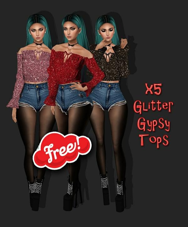 FREEBIE ! - Free Glitter Gypsy Tops