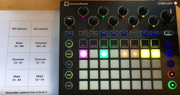 Novation Circuit Session file for playing melodies with samples