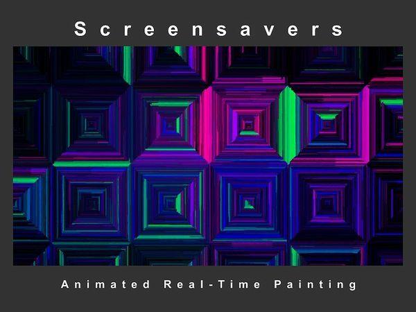 """ Boxes "" Screensaver ( Animated Artwork )"