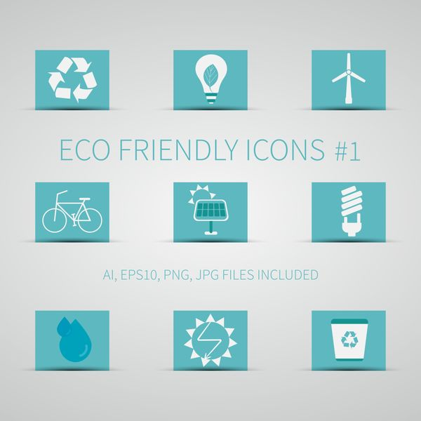 Eco Friendly Icons & Stickers