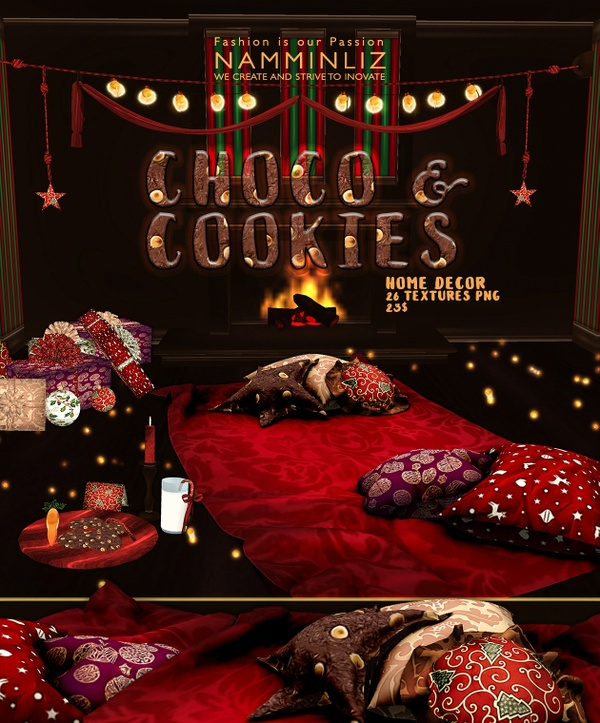 Choco & Cookies imvu Home decor 26 Textures PNG