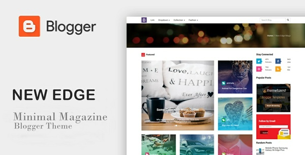 New Edge Magz SEO Responsive Blogger Template