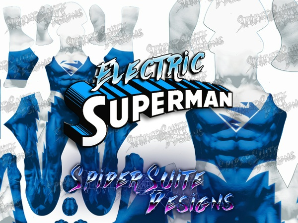 Electric Superman Blue 2017 Pattern