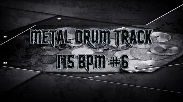 Metal Drum Track 175 BPM #6
