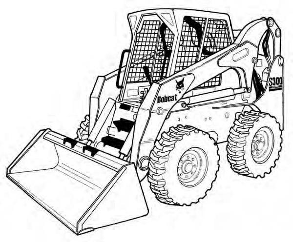 Bobcat S300 Skid-Steer Loader Service Repair Manual Download(S/N AJ4M11001 & Above)