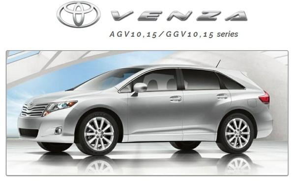 TOYOTA VENZA 2009-2011 AGV10,15/GGV10,15 series PDF Workshop Manual