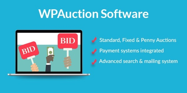 WordPress Auction Plugin To Create Best Penny Auction Websites 5.7.3  WPAuction