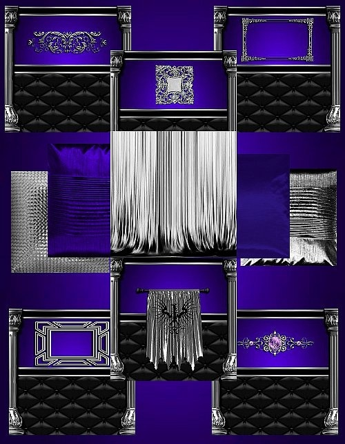 IMVU Purple Silver Texture Set