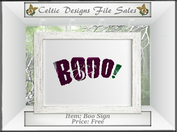 CD Boo Sign Mesh