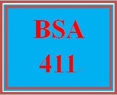 BSA 411Week 3 Learning Team Methodology