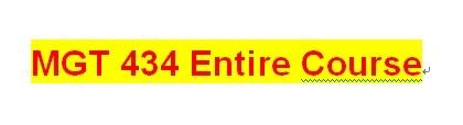 MGT 434 Week 5 Employee Handbook Assignment