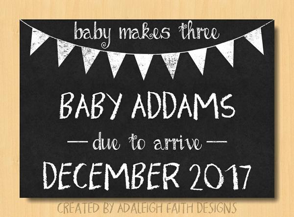 Pregnancy Announcement Template