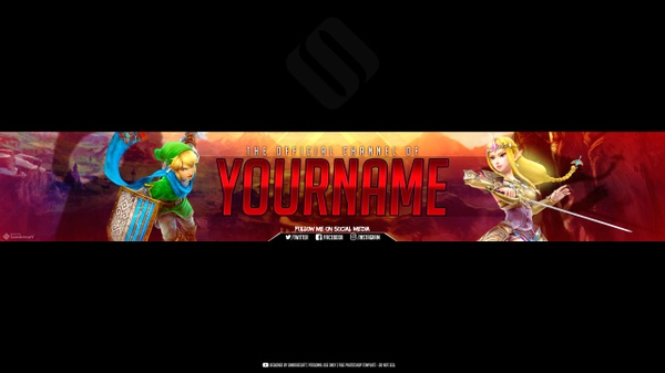 Zelda Breath of the Wild YouTube Banner Template | Sandriesoft