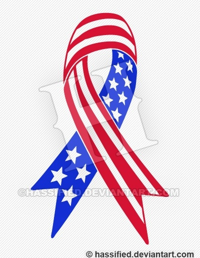 Support America  Ribbon - printable, vector, svg, art