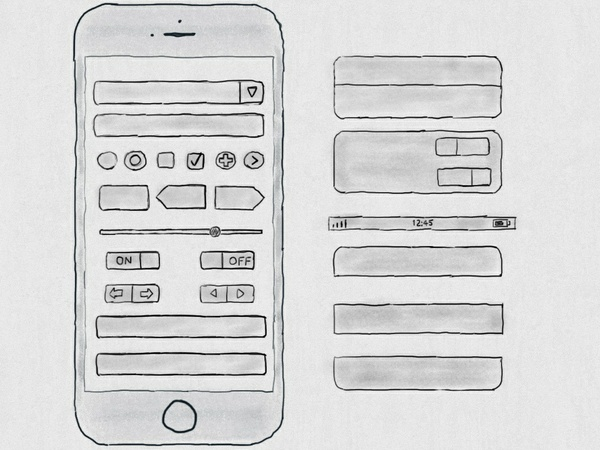 Hand Drawn iPhone 6S UI Kit