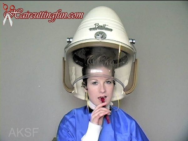 Chair Hair Dryer and Hair Gelling and Slicking with Kat - VOD Video on Demand Digital Video