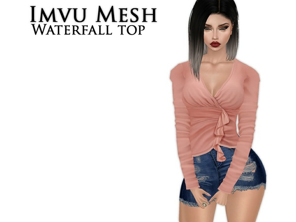 IMVU Mesh - Tops - Waterfall Top