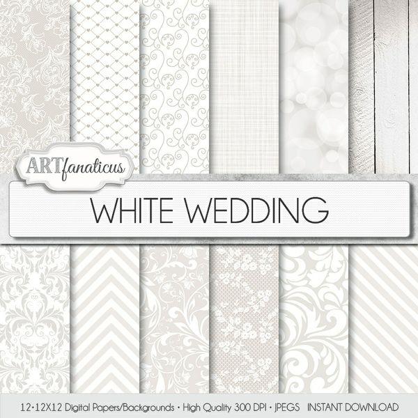 WHITE WEDDING - DIGITAL PAPER