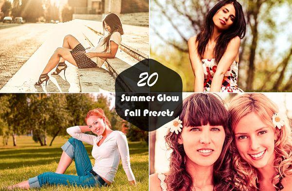 20 Summer Glow Fall Lightroom Presets