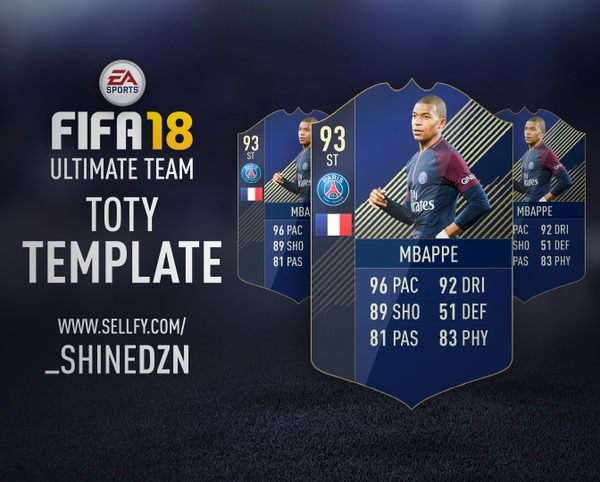 FIFA 18 TOTY TEMPLATE