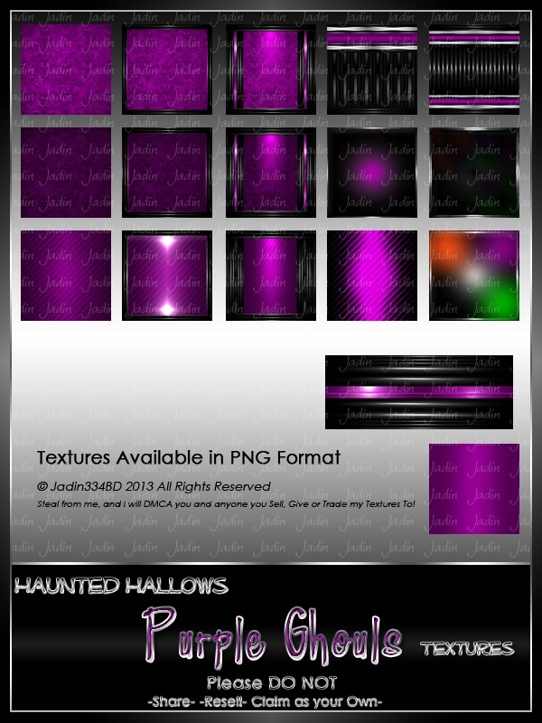 Haunted Hallows PURPLE Ghouls Texture Pack-- $2.00