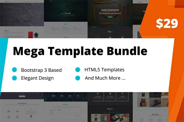 Mega Bootstrap 3 Templates Bundle (17 Templates)