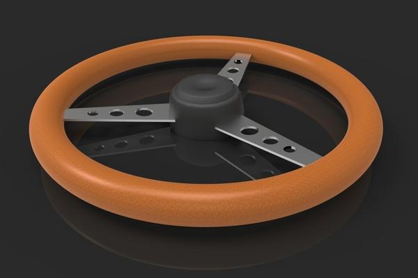3D Oldschool Steering Wheel