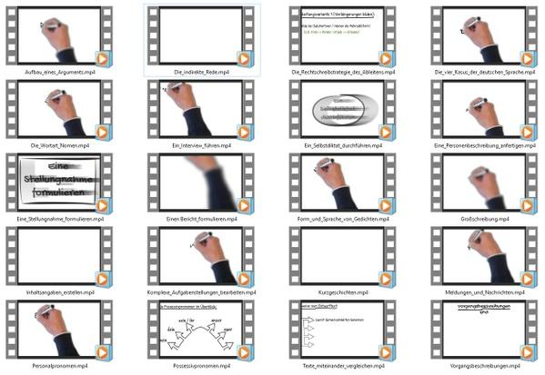 20 Lernvideos von deutschfoerdern.de (ohne Branding)