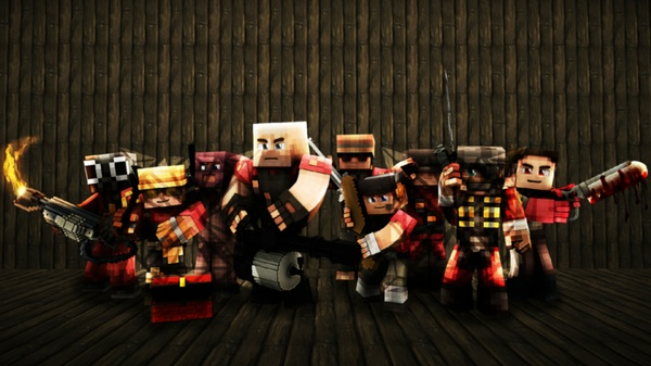 Team Fortress 2 Minecraft Wallpaper