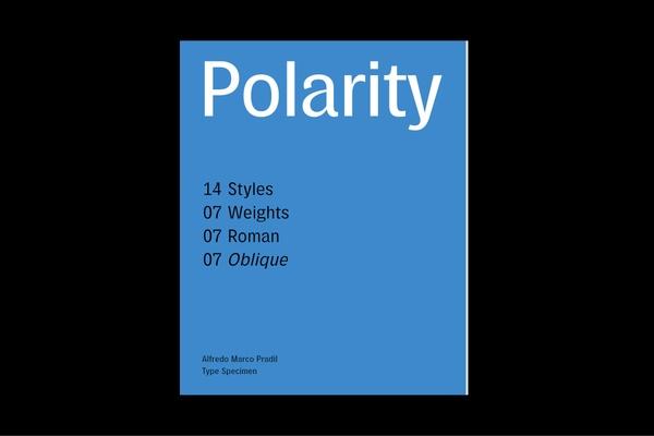 Polarity Typeface