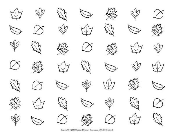 Visual Scanning Worksheet - Autumn Leaves
