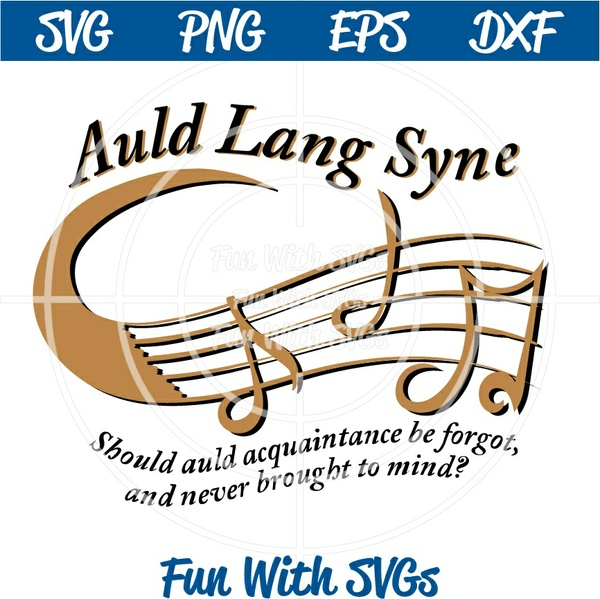 New Years Eve Digital File, Auld Lang Syne,