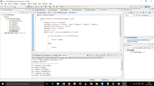 Assignment7.java  Game.java-  Game Manager Program