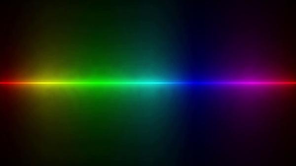 Animated Rainbow Line Desktop Wallpaper