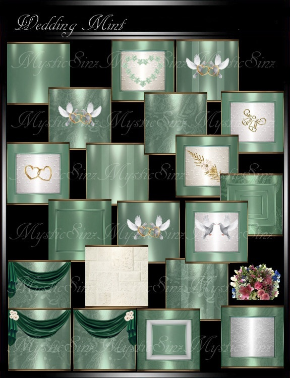 IMVU Textures Wedding Mint Collection