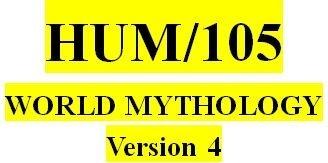 HUM 105 Week 1 Foundations of Mythology