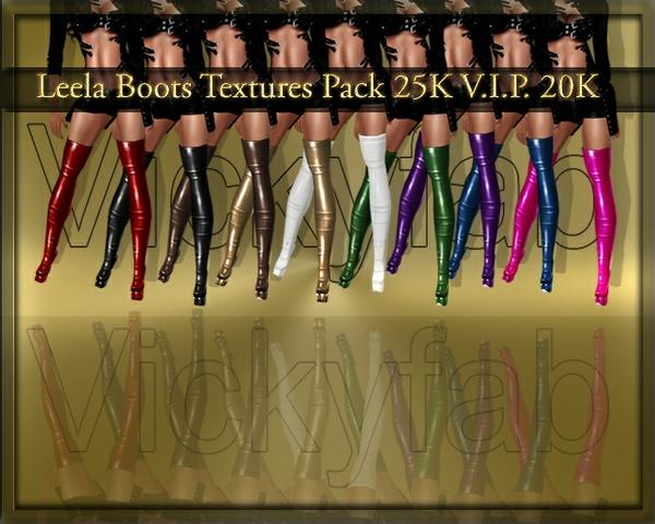 Leela Boots Textures Pack
