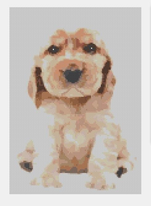 Cross Stitch PDF Puppy dog