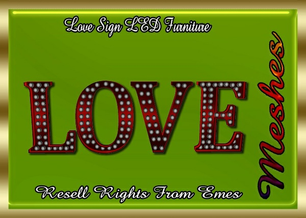 Love Sign LED Furniture Catty Only!!!