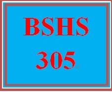 BSHS 305 Week 3 Quiz