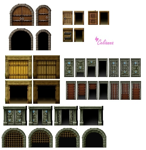 "Celianna's Parallax Tiles ""Doors"""