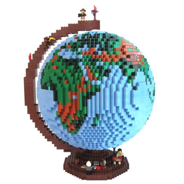 dirks LEGO globe - LDD-file, instructions, parts list