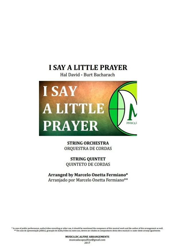 I Say a Little Prayer | Aretha Franklin | Orquestra de Cordas | Quinteto de Cordas | Partitura