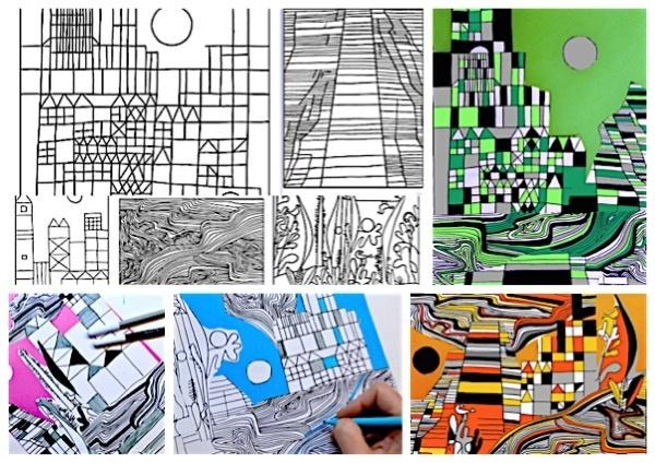 Collage Paul Klee: 5 worksheets